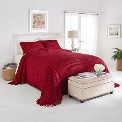 Chenille Bedspread, BURGUNDY