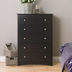 Sonoma 5-Drawer Chest, Black,