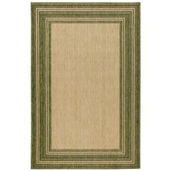 "Liora Manne Carmel Multi Border Indoor/Outdoor Rug Green 23""X7'6"","