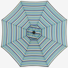 9' Tilt-and-Crank Umbrella, POPPY STRIPE