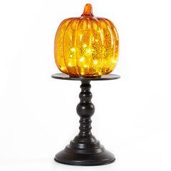 "16"" Pre-Lit Pumpkin on Stand ,"