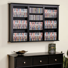 Triple Wall Mounted Multimedia Storage ,
