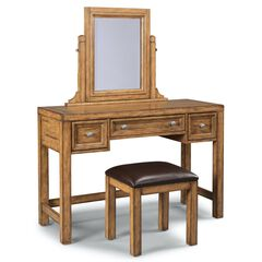 Sedona Brown Vanity & Bench,