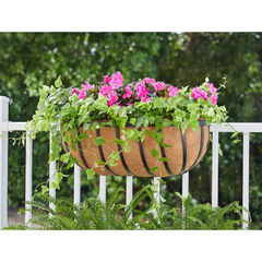 "24""H Hanging English Horse Trough Planter,"