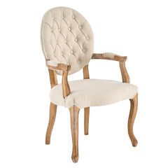 Upholstered Tufted Arm Chair,