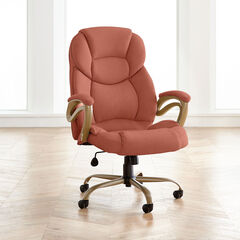 Big and Tall Memory Foam Office Chair, PEACH CORAL