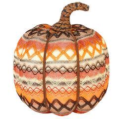 """7½"""" Aztec Print Pumpkin,"""