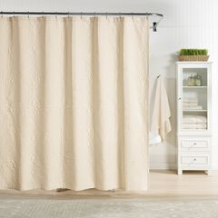 Raphaela European Matelassé Shower Curtain,