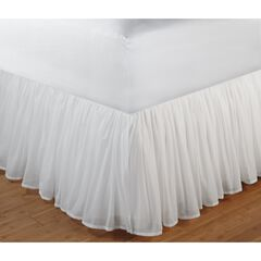 "Greenland Home Fashions Cotton Voile Bed Skirt 18"","