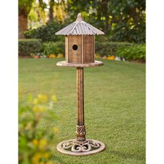 Bronze Finish Bird Feeder,