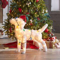 Pre-Lit Festive Dog,