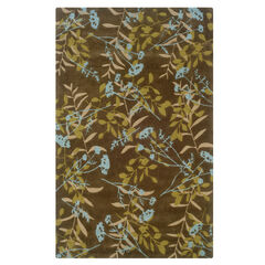 Trio Chocolate 5'X7' Area Rug,