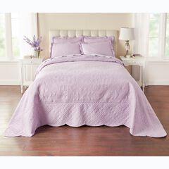 Lily Damask Embossed Bedspread,