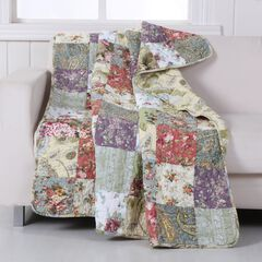 Greenland Home Fashions Blooming Prairie Patchwork Quilted Throw Blanket,