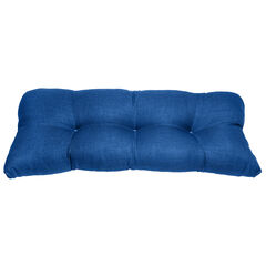 Tufted Wicker Settee Cushion, POOL