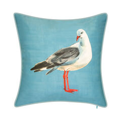 Indoor & Outdoor Watercolor Seagull Decorative Pillow,