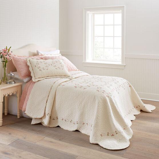 Felisa Embroidered Bedspread,