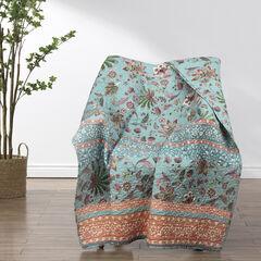 Audrey Turquoise Throw Blanket,