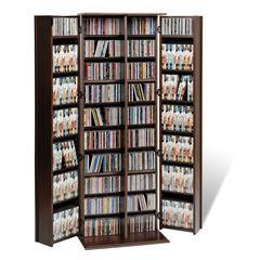 Grande Locking Media Storage Cabinet with Shaker Doors,