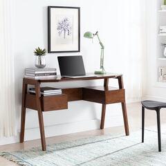 Clyden Midcentury Modern Writing Desk w/ Storage,