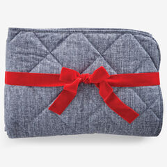Quilted Water-Resistant Pet Throw, SLATE