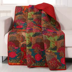 Greenland Home Fashions Jewel Quilted Throw Blanket,