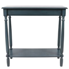 Antique Navy Rectangle Console by J. Hunt,
