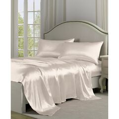Belles & Whistles Black Satin Sheet Set,