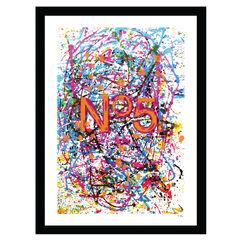 Chanel Paint Splatter - Multi - 14x18 Framed Print,