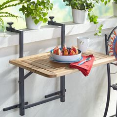 Wood Balcony Folding Table,
