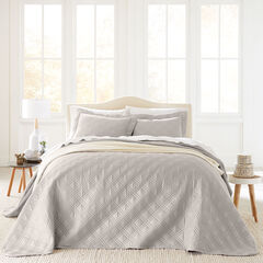 3-Pc. Diamond Embossed Bedspread Set, STONE