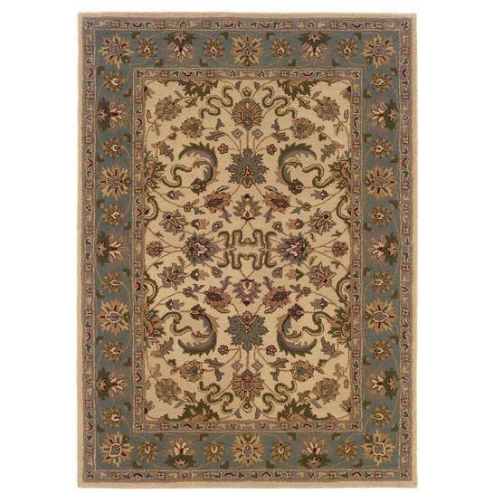 Trio Traditional Cream 5'X7' Area Rug, CREAM