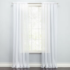 BH Studio Sheer Voile Rod-Pocket Panel,