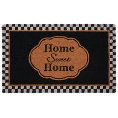 "Printed Coir Door Mat 18"" x 30"", HOME SWEET HOME"