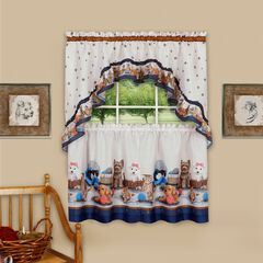 Precious Printed Tier and Swag Window Curtain Set,