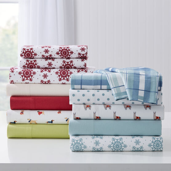 Cotton Flannel Print Sheet Set,