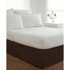 "Luxury Hotel Classic Tailored 14"" Drop Chocolate Bed Skirt,"