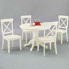 Round Pedestal Dining Table & Side Chairs,