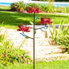 Triple Flower Wind Spinner,