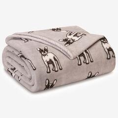 Winter Nights Plush Blanket, FRENCH BULLDOG