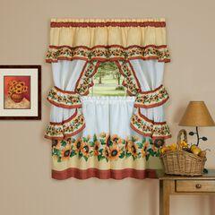 Black Eyed Susan Cottage Window Curtain Set,