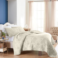 Emily Embroidered Floral Quilt,