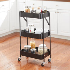 3-Tier Foldable Rolling Cart,