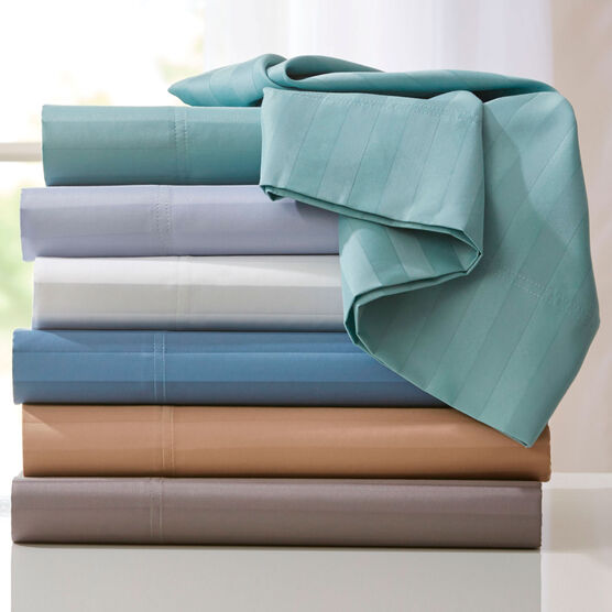 600-TC 6-Pc. Striped Cotton Blend Sheet Set ,