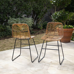 Ragalto Pair of All-Weather Rattan Outdoor Chairs,