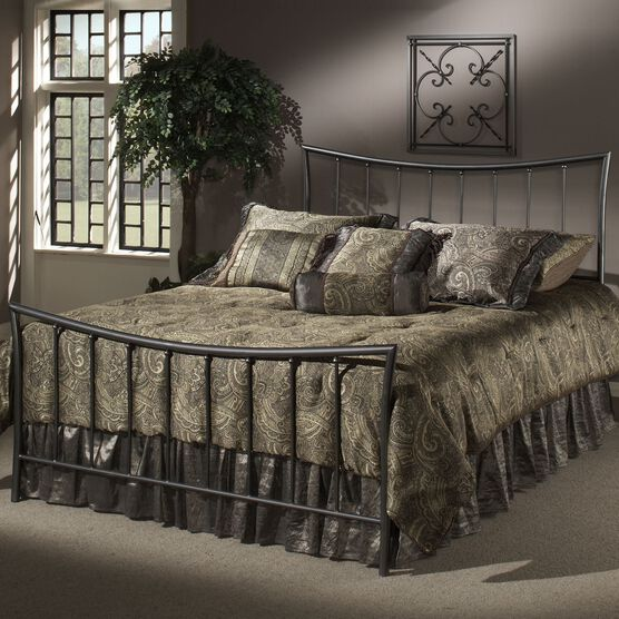 Queen Bed with Bed Frame, 83½'Lx63'Wx48'H,