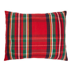 Nicholas Flannel Plaid Sham, RED