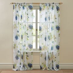 BH Studio Printed Voile Rod-Pocket Panel, PETALS