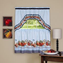 Golden Delicious Printed Tier & Swag Window Curtain Set,