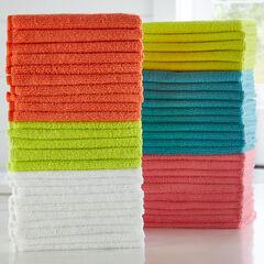 Set of 50 Microfiber Towels, MULTI